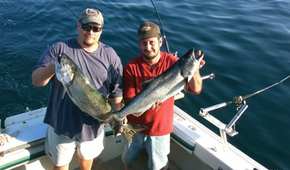 Door county charter fishing the lodge at leathem smith for Door county fishing charters
